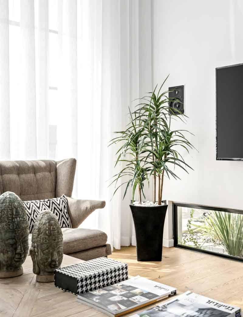 דרצה מלאכותי 4 גזעים לעיצוב הסלון | גרדן מרקט - צמחיה מלאכותית איכותית