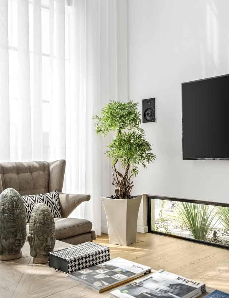 צמח בונסאי 2 פיצולים לעיצוב הסלון | גרדן מרקט - צמחיה מלאכותית איכותית
