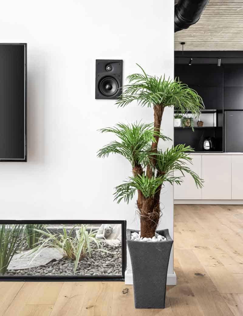 דקל רוביליני מלאכותי לבית מבית גרדן מרקט - צמחיה מלאכותית איכותית