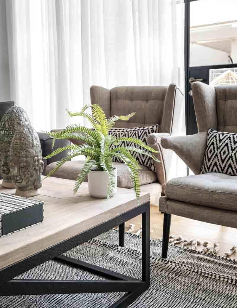 שרך כליין מלאכותי לעיצוב הסלון | גרדן מרקט - צמחיה מלאכותית איכותית