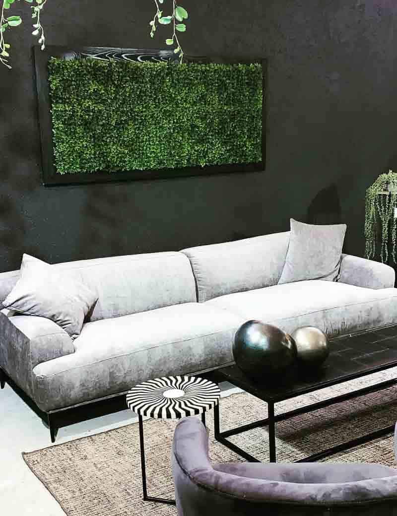קיר ירוק עם מסגרת | גרדן מרקט - צמחיה מלאכותית איכותית