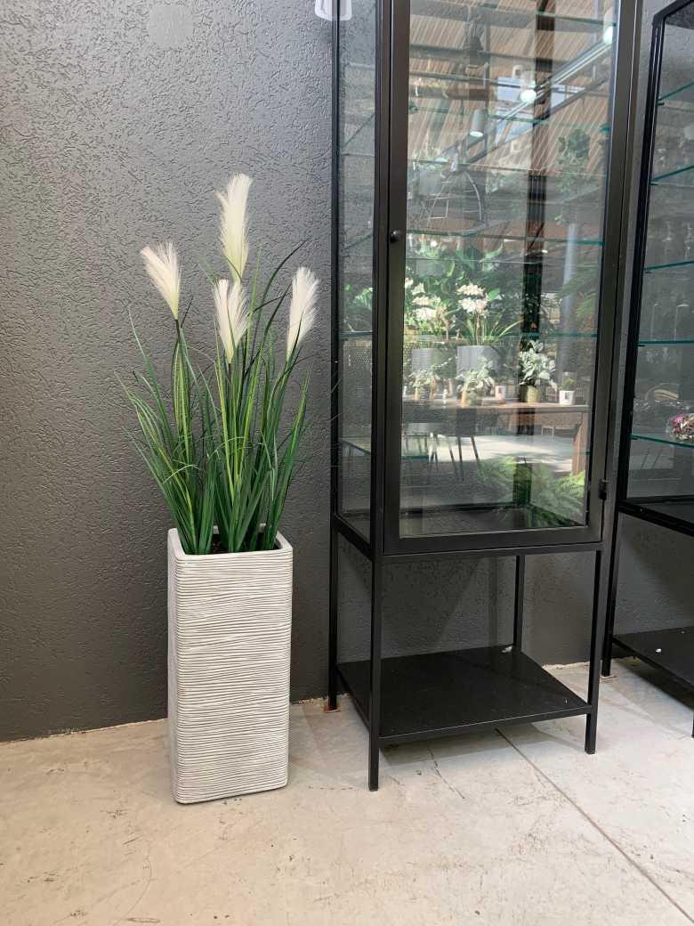 צמח עשבוני פריחה לבנה מלאכותי | Garden Market - צמחיה מלאכותית איכותית