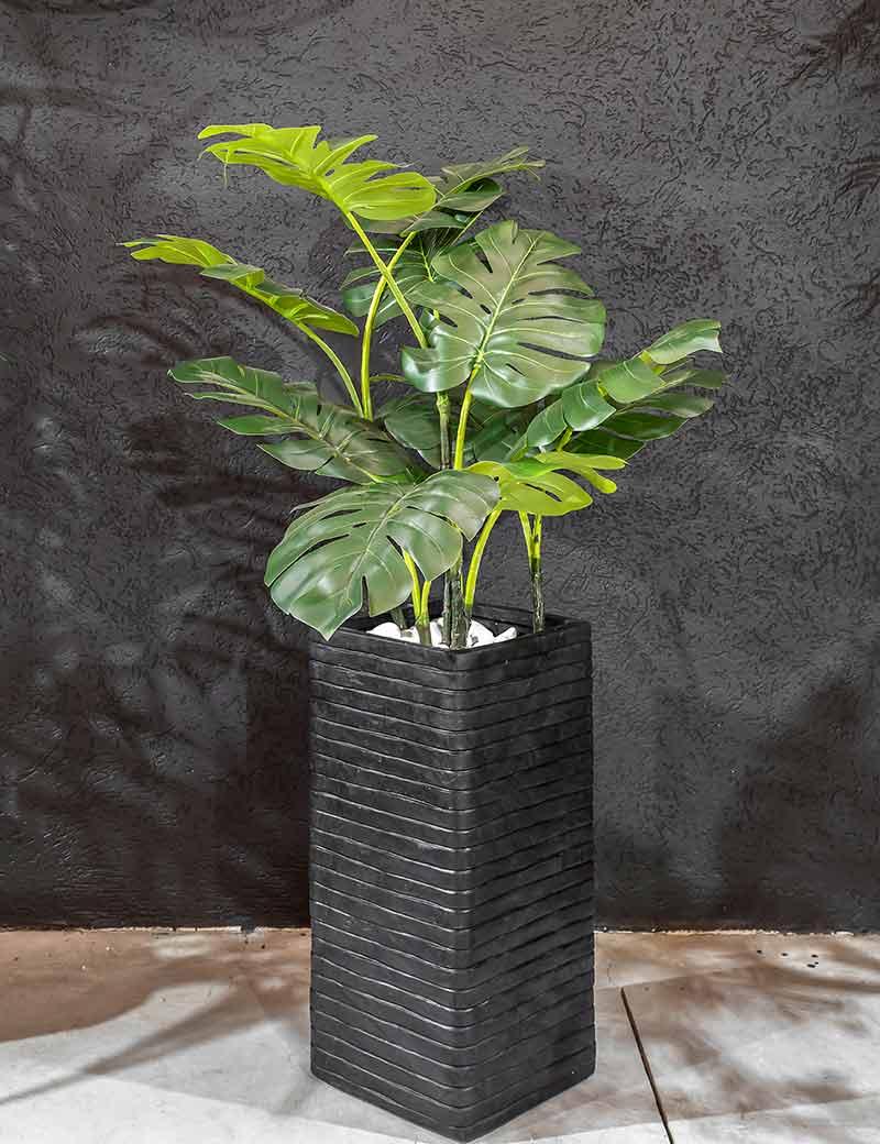 מונסטרה בכד פייבר, צמח מלאכותי | גרדן מרקט - צמחיה מלאכותית איכותית
