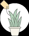 מחירים אטרקטיביים של גרדן מרקט - צמחיה מלאכותית
